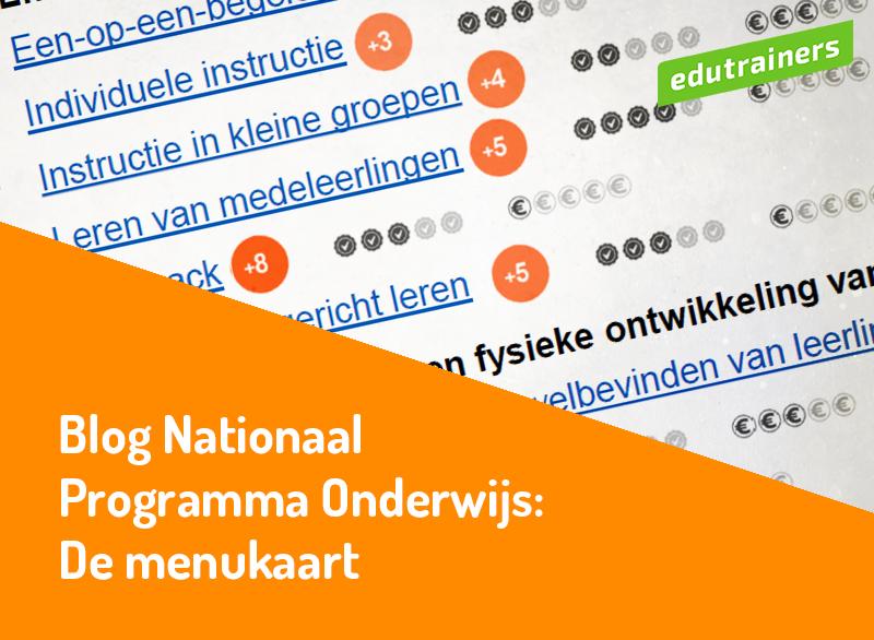 menukaart van het NPOnderwijs